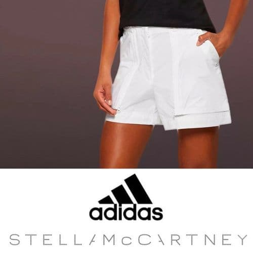 adidas Stella McCartney Womens Shorts Canvas Bermuda shorts 100% Cotton RRP £40