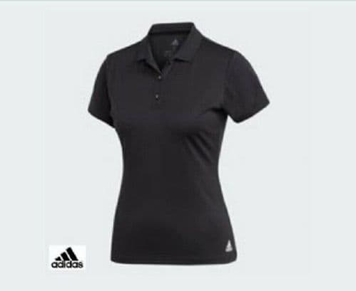 adidas Women's ClimaChill Black Polo Shirt Keeps you Cool Quick Drying AJ9285
