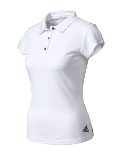 adidas Women's ClimaChill White Tennis Polo Shirt Keeps you Cool BJ9564