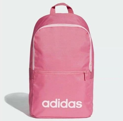 adidas Women's Linear Classic Daily Pink Backpack Training School Gym DT8635