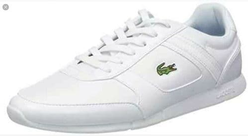 Lacoste Men's White Novas Leather Trainers Brand New Boxed free UK RM24 Delivery
