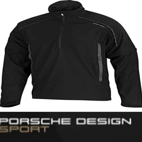 Porsche Design Sport by adidas P'5000 Windbreak Golf Jacket Black P04712 V Rare