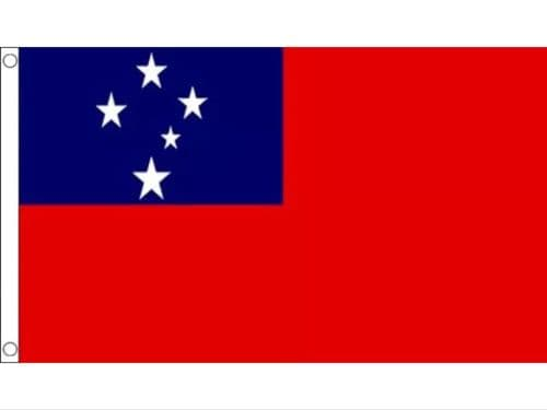 SAMOA FLAG Large 5' x 3' Western Samoan Flag Oceania Flags Rugby free delivery