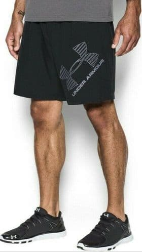 UA Under Armour Woven Graphic Mens Training Shorts Black BNWT free UK Delilvery