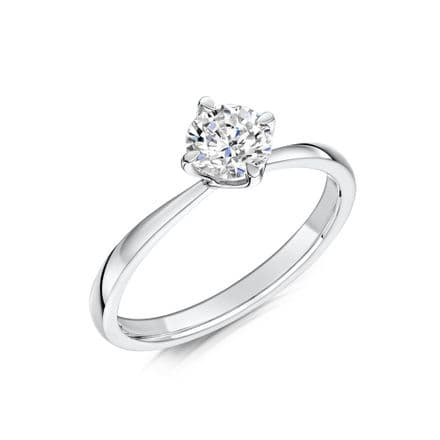 0.33 Carat GIA GVS Diamond solitaire 18ct White Gold Round brilliant Engagement Ring MWSS-1167/033