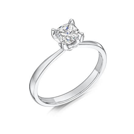 0.4 Carat GIA GVS Diamond solitaire Platinum. Cushion shaped. Engagement Ring, MPSS-1182/040