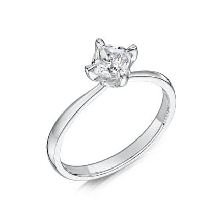 0.4 Carat GIA GVS Diamond solitaire Platinum. Cushion shaped. Engagement Ring, MPSS-1183/040