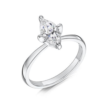 0.5 Carat GIA GVS Diamond solitaire 18ct White Gold. Marquise cut. Engagement Ring MWSS-1198/050