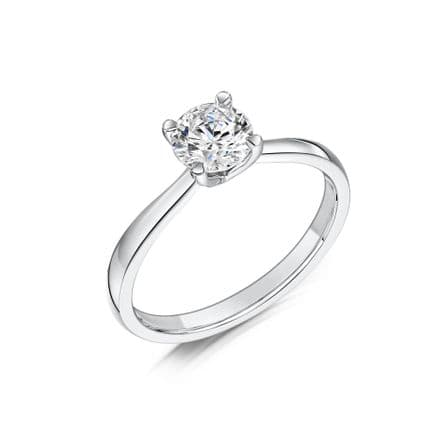 0.5 Carat GIA GVS Simple V Diamond solitaire 18ct White Gold Round Engagement Ring MWSS-1202/050