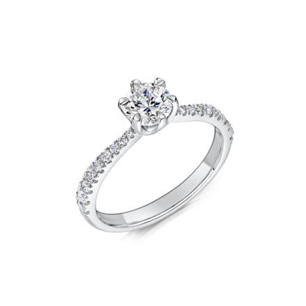 0.53 Carat GIA GVS Diamond solitaire 18ct White Gold Round brilliant Engagement Ring MWSS-1205/033
