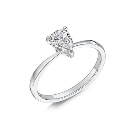 0.6 Carat GIA GVS Diamond solitaire 18ct White Gold. Pear shaped. Engagement Ring, MWSS-1200/060