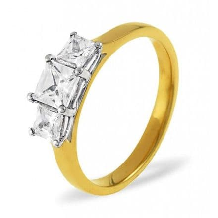 18K Gold 0.25ct H/si Diamond Ring, DR03-25HSY