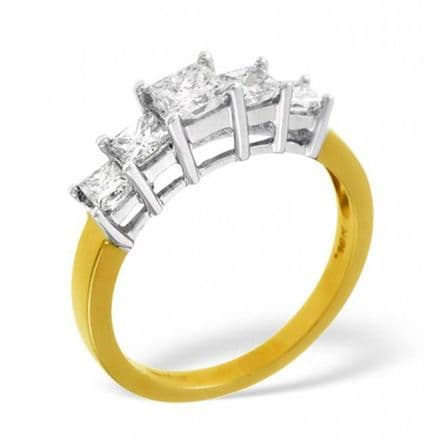 18K Gold 0.25ct H/si Diamond Ring, DR07-25HSY