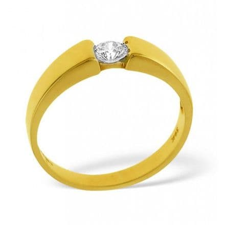 18K Gold 0.25ct H/si Diamond Solitaire Ring, SR06-25HSY