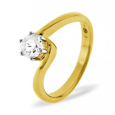 18K Gold 0.25ct H/si Diamond Solitaire Ring, SR08-25HSY