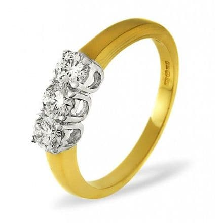 18K Gold 0.30ct H/si Diamond Ring, DR01-30HSY