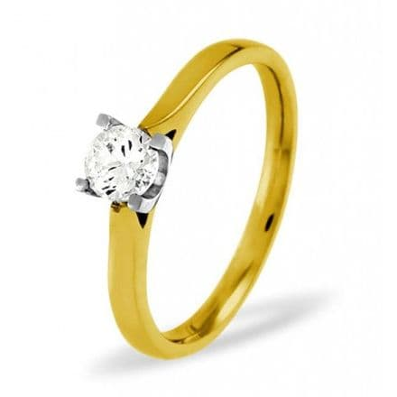 18K Gold 0.25ct H/si Diamond Solitaire Ring, SR05-25HSY