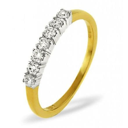 18K Gold 0.30ct H/si Diamond Ring, DR10-30HSY