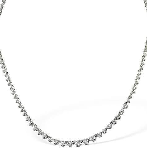 18K White Gold 3.00ct Diamond Necklace B1250-300PKW