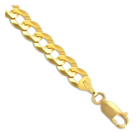 9ct Yellow Gold Flat Curb 7mm Gauge Chain