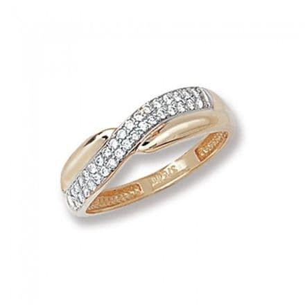 9K Gold Men's Pinky Rings -9Ct Gold Cz Promise Ring