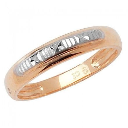 9K Gold Men's Promise Pinky Rings -9Ct Gold Dia Cut Ring