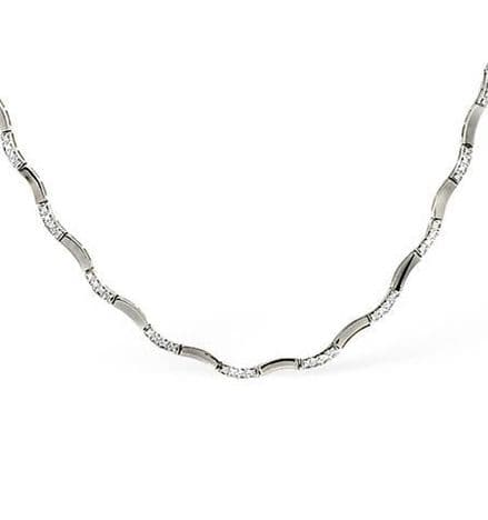 9K White Gold 0.55ct Diamond Necklace B1087