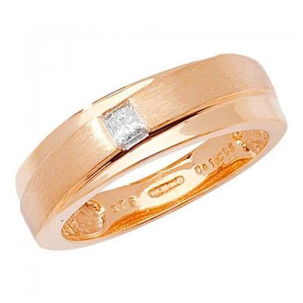 Diamond Gents Cross Over Band Ring, RD353