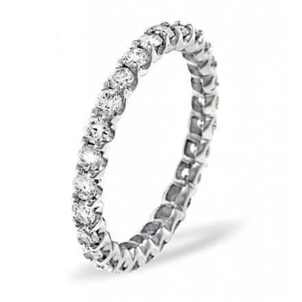 Gents 18K White Gold 2.00ct H/si Diamond Full Eternity Ring, GFE12-200HSW