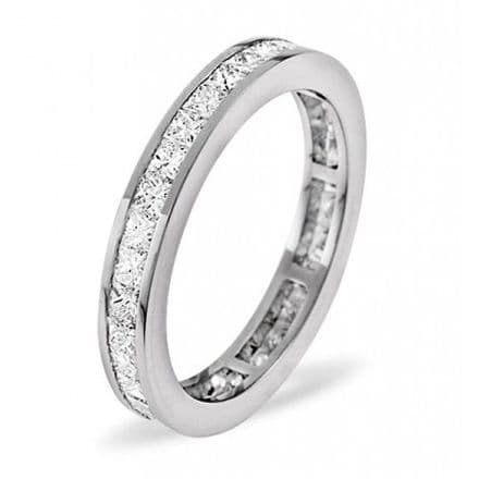 Gents 18K White Gold 3.00ct H/si Diamond Full Eternity Ring, GFE19-300HSW