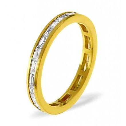 Gents 18K White Gold 5.00ct H/si Diamond Full Eternity Ring, GFE23-500HSW