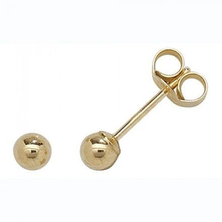 Just Gold Earrings -Studs Ball 3Mm, ES201