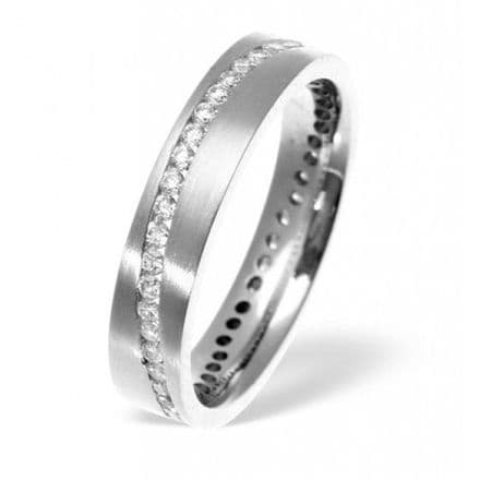 Palladium 0.55ct H/si Diamond Wedding Band, WB27-55HSP