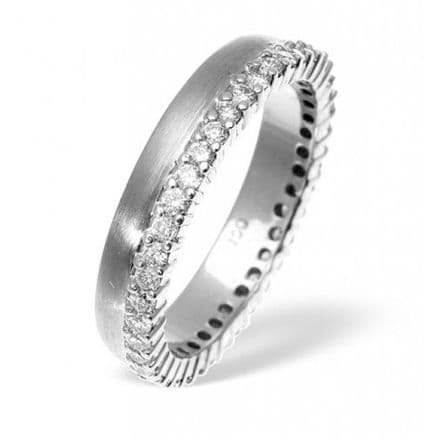 Palladium 1.20ct G/vs Diamond Wedding Band, WB30-120VSP
