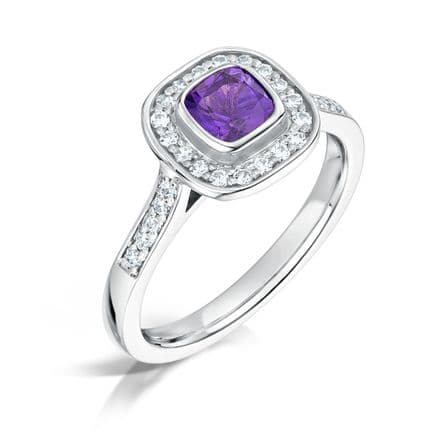 CHOOSE A GEM  & Diamond  Ring Platinum Ruby Emerald Tanzanite Topaz Amethyst Gem  1.00ct