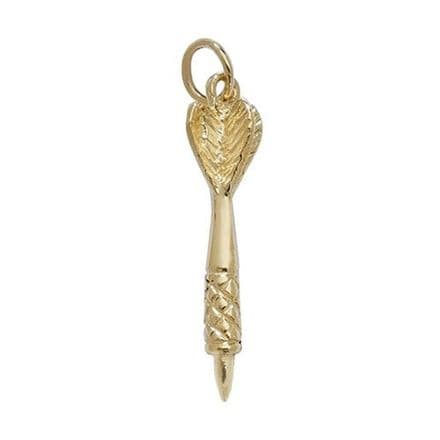 Darts Player Gold Pendant 1 substantial dart Solid Yellow gold 9k
