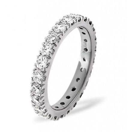 Gents 18K White Gold 2.00ct H/si Diamond Full Eternity Ring, GFE08-200HSW