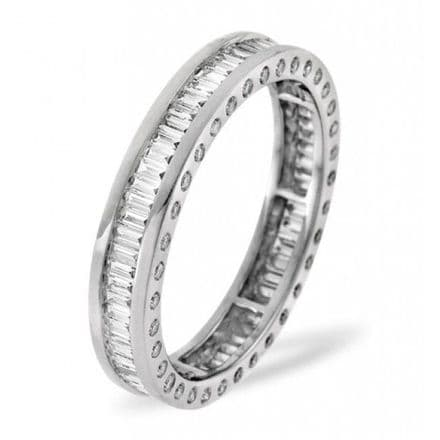 Gents 18K White Gold 3.00ct H/si Diamond Full Eternity Ring, GFE06-300HSW