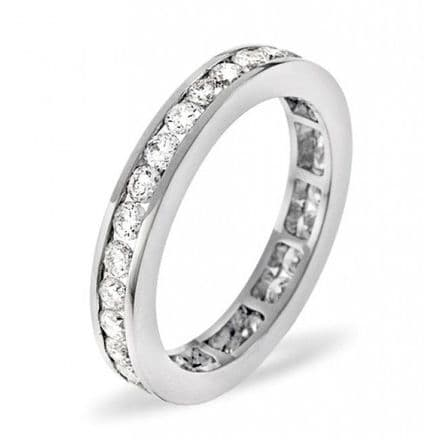 Gents 18K White Gold 3.00ct H/si Diamond Full Eternity Ring, GFE11-300HSW
