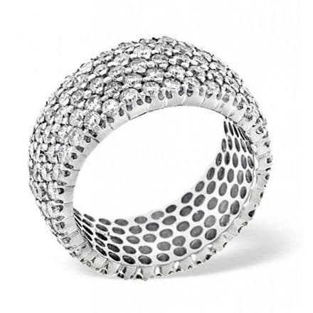 Gents 18K White Gold 3.00ct H/si Diamond Full Eternity Ring, GFE18-300HSW