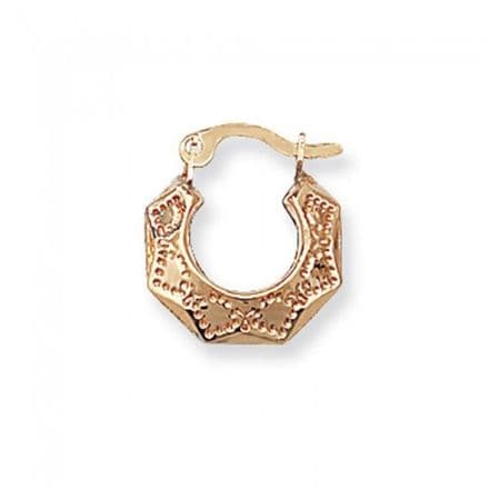 Just Gold Earrings -9Ct Gold Baby Creole, ER065