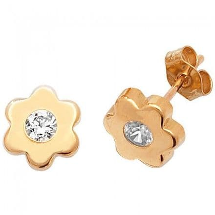 Just Gold Earrings -9Ct Gold Cz Studs, ES312