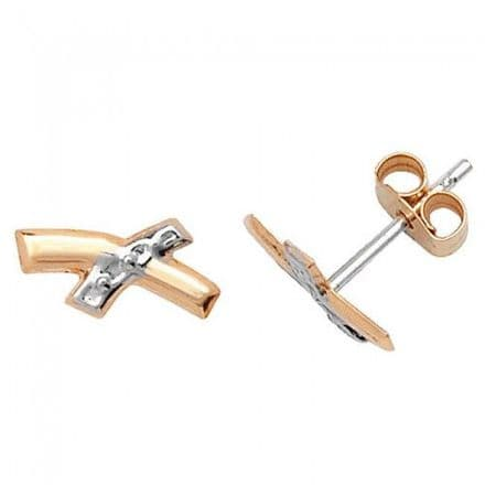 Just Gold Earrings -9Ct Gold Studs, ES307