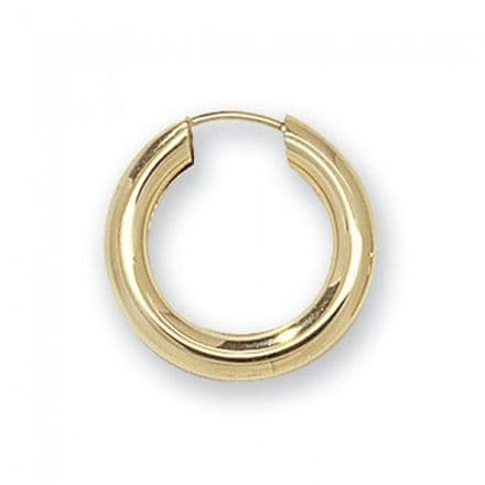 Just Gold Earrings -Sleepers  9k Yellow Gold 18Mm,