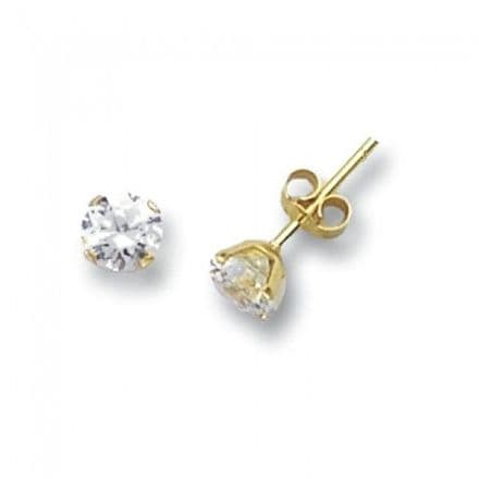 Just Gold Earrings -Studs Cz 5Mm, ES212