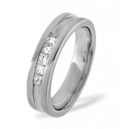 Palladium 0.22ct G/vs Diamond Wedding Band, WB07-22VSP