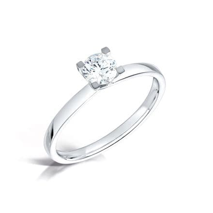 Wedfit 1 part 4 claw crossover setting diamond engagement ring. Court shank. Round brilliant