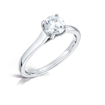 Wedfit 4 claw setting Diamond engagament ring Daylight parallel shoulder Round brilliant.
