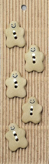 Incomparable BUTTONS L185 - gingerbread men x 5