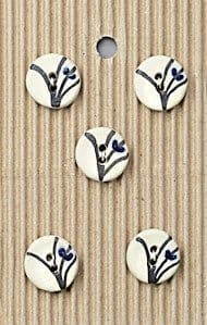 Incomparable BUTTONS  L312 -  Japanese design x 5